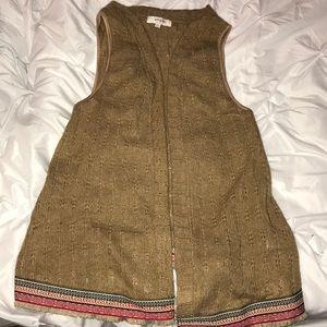 Sweater type tank vest